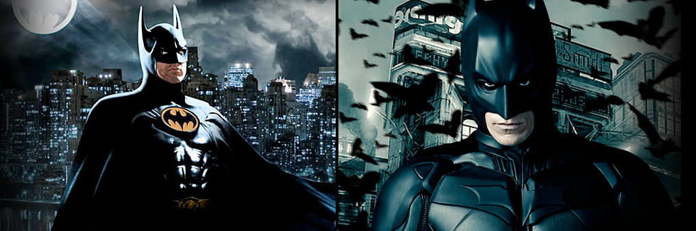 Batman Tim Burton v Christopher Nolan